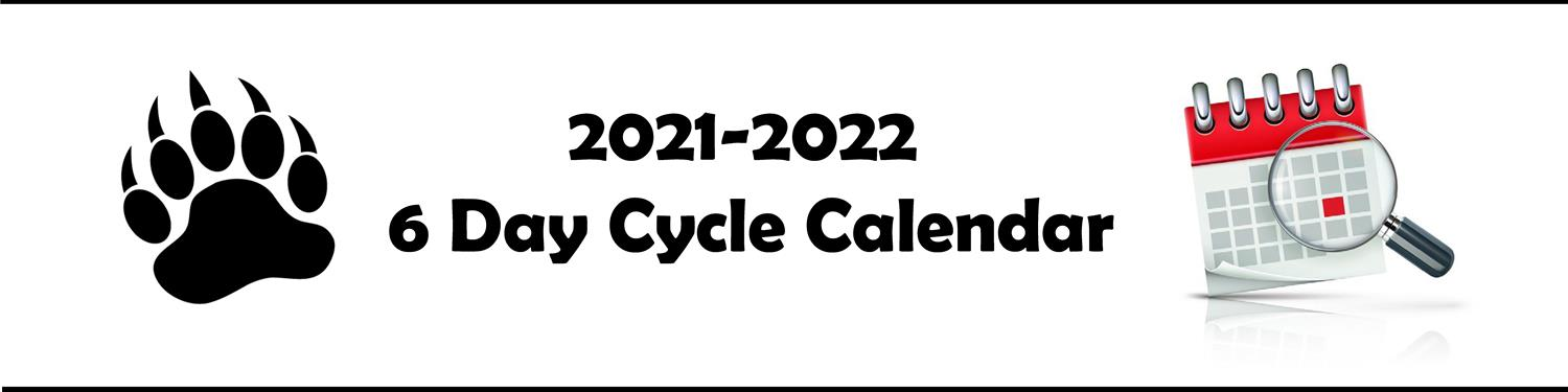 6 Day Cycle Calendar 2020-2021