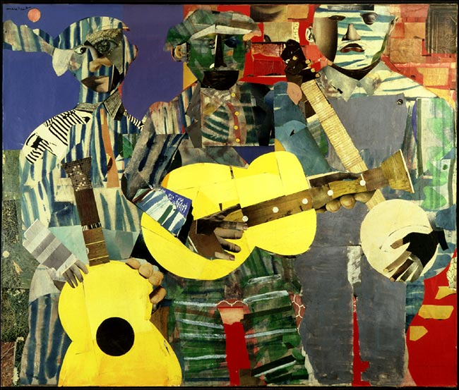 Romare Bearden (1911-1988) - Collage artist, but almost drafted by the Philadelphia Athletics before Jackie Robinson.