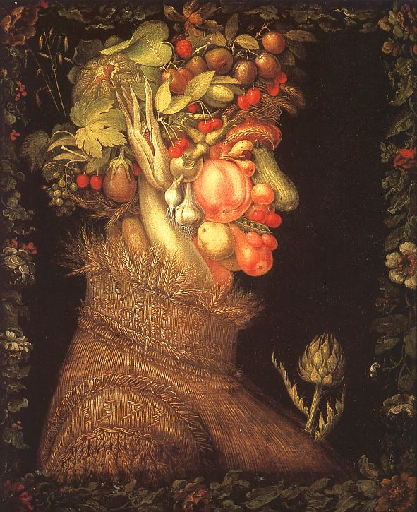 Giuseppe Arcimboldo - Summer (1573).  Largely forgotten by history until the 20th century when rediscovered by Salvador Dali.