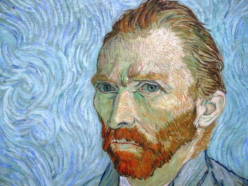 Vincent Van Gogh (Self Portrait, 1890).  A tortured life, Van Gogh only sold one painting in his entire life.  Not this one.