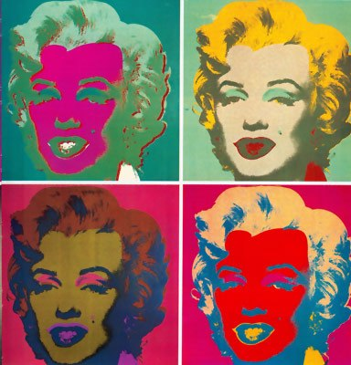 Andy Warhol (Marilyn Monroe, 1967).  One of the most famous artists of the 20th century, Warhol is the icon of Pop Art.