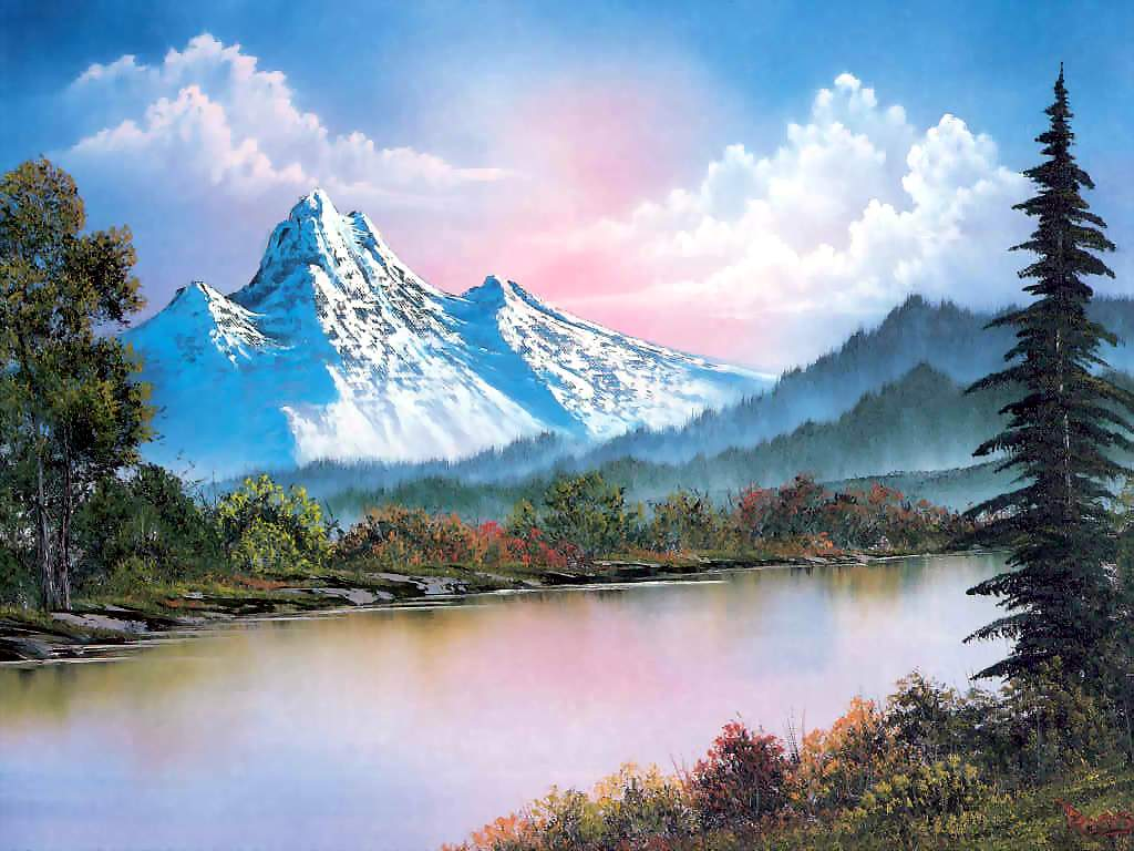 Bob Ross - yes, the PBS artist from the 80s.  He was amazing!